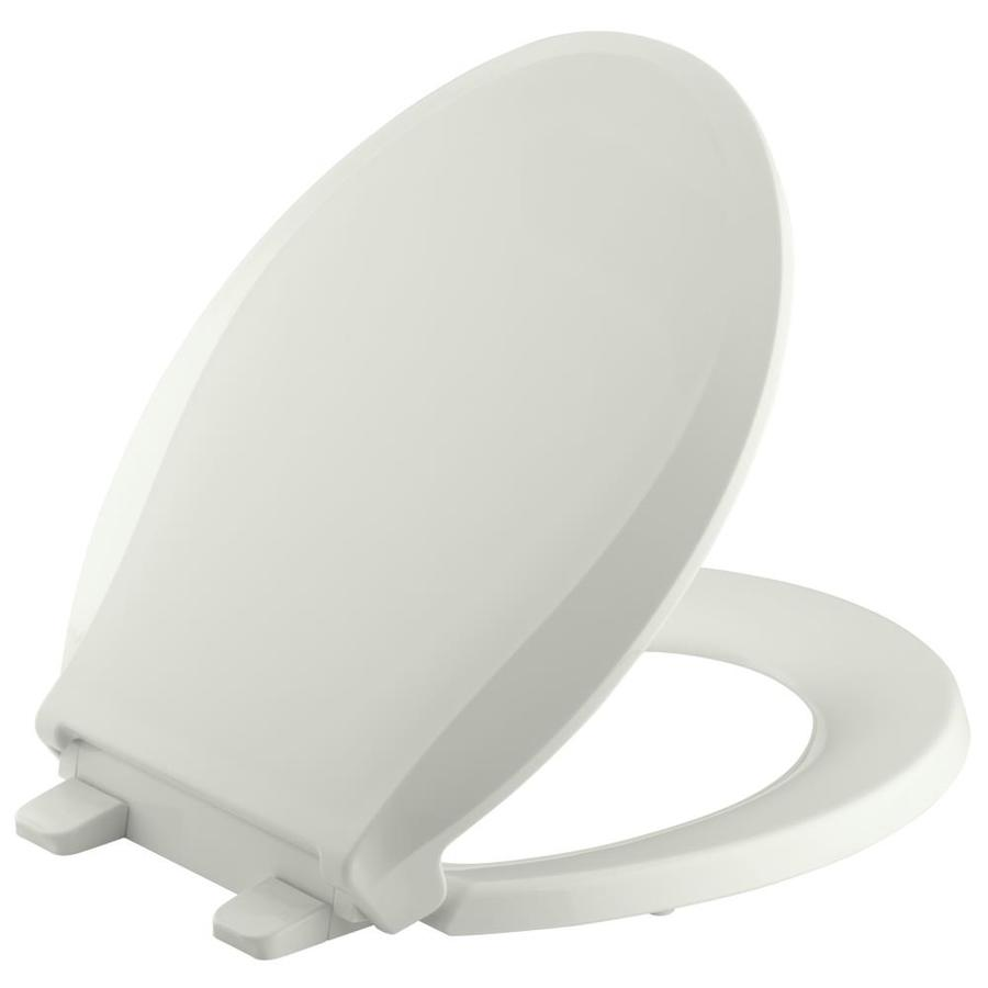 KOHLER Grip-Tight Cachet Plastic Round Slow-Close Toilet Seat