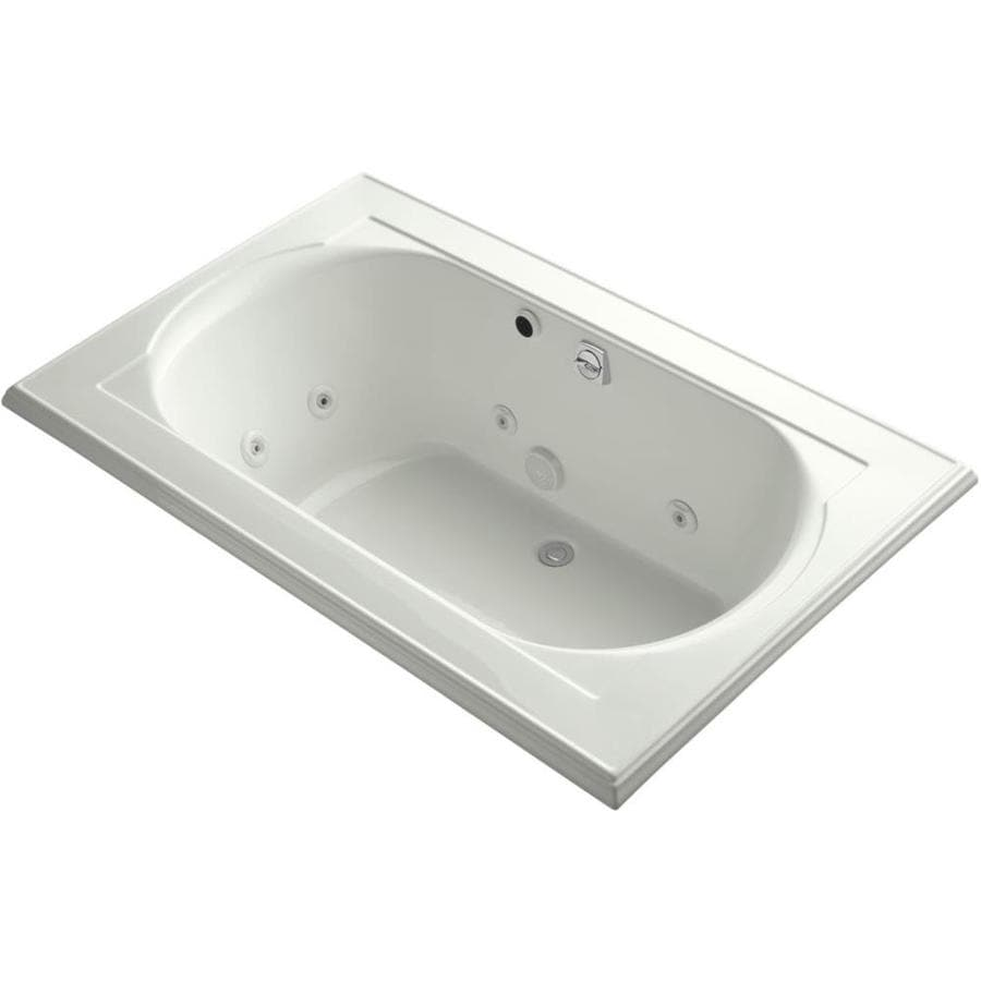 KOHLER Memoirs 2-Person Dune Acrylic Oval In Rectangle Whirlpool Tub (Common: 42-in x 66-in; Actual: 22.0000-in x 42.0000-in x 66.0000-in)