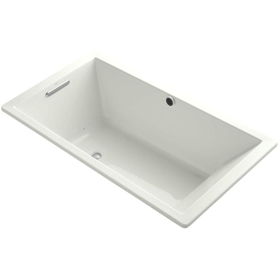 KOHLER Underscore 60-in L x 36-in W x 22-in H Dune Acrylic Rectangular Drop-in Air Bath