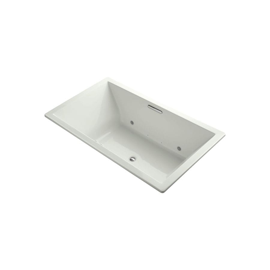 KOHLER Underscore 72-in L x 42-in W x 23-in H Dune Acrylic 2-Person-Person Rectangular Drop-in Air Bath