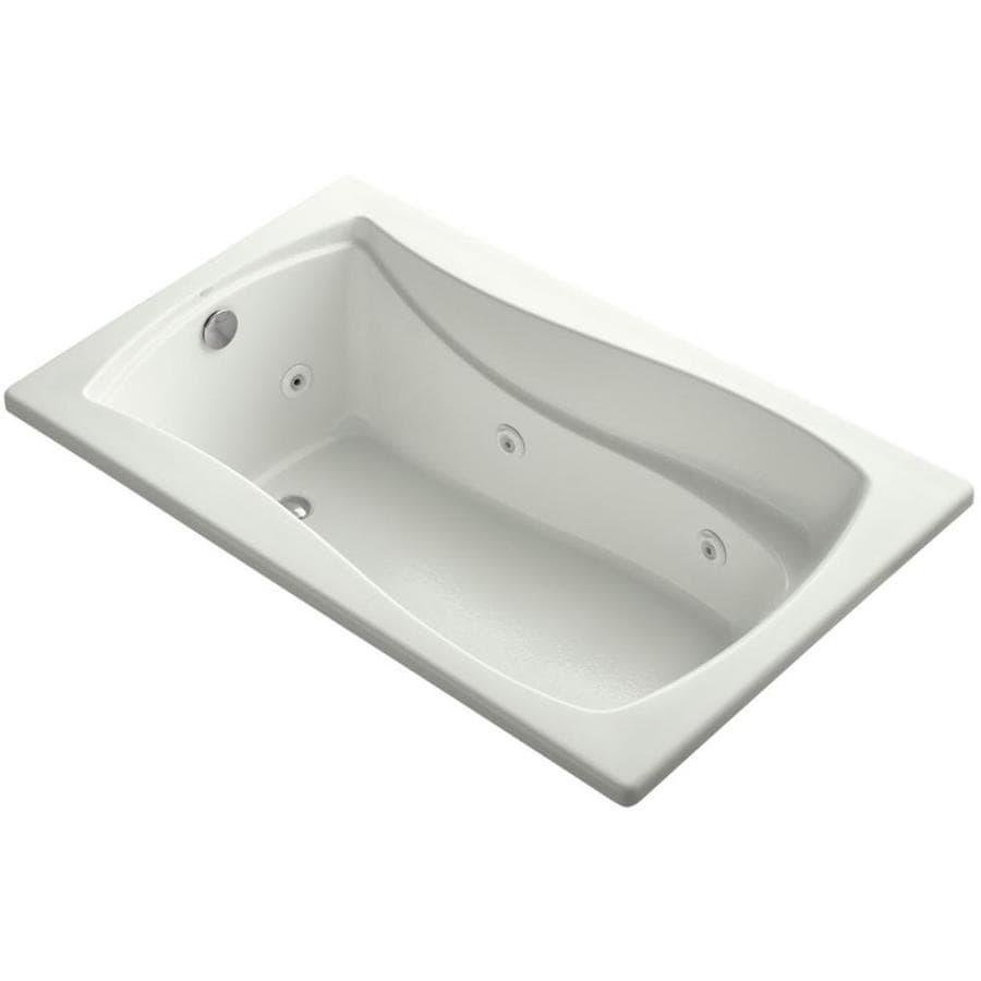 KOHLER Mariposa 60-in Dune Acrylic Drop-In Whirlpool Tub with Reversible Drain