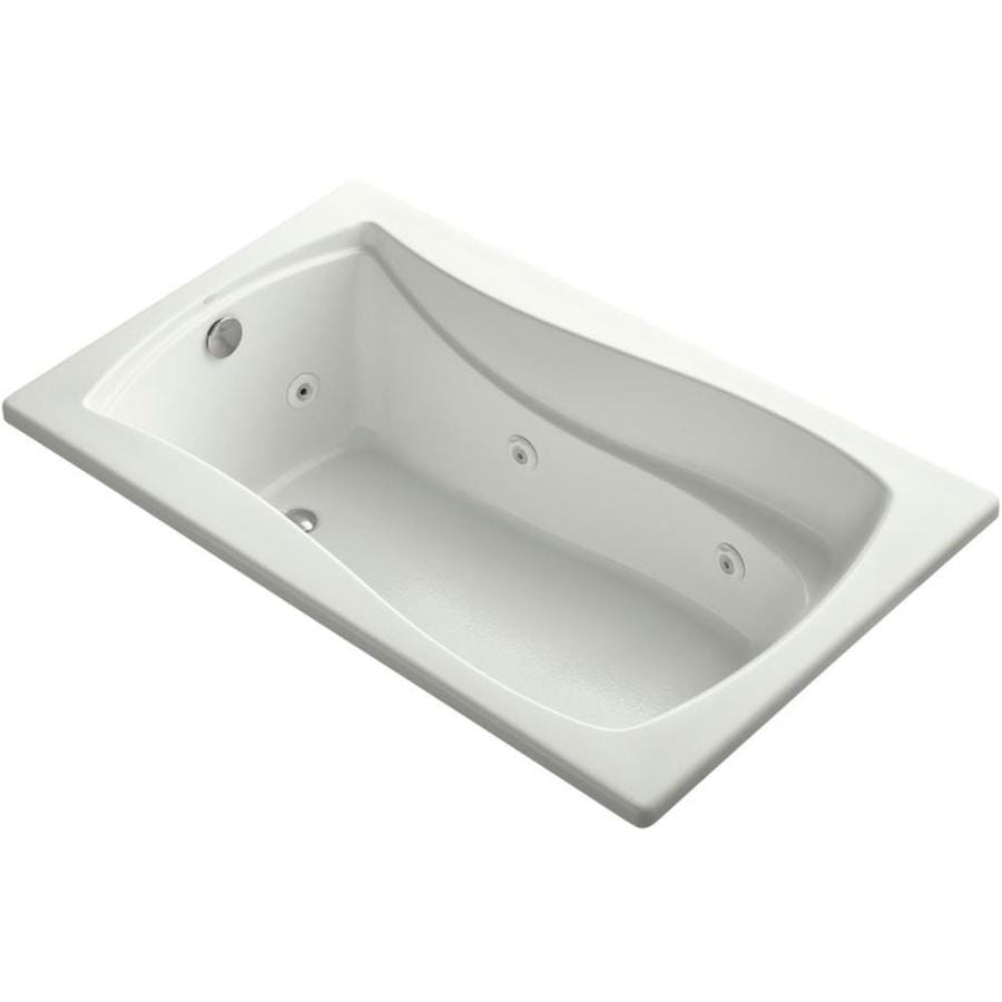 KOHLER Mariposa Dune Acrylic Hourglass In Rectangle Drop-in Whirlpool Tub (Common: 36-in x 60-in; Actual: 20-in x 36-in x 60-in)