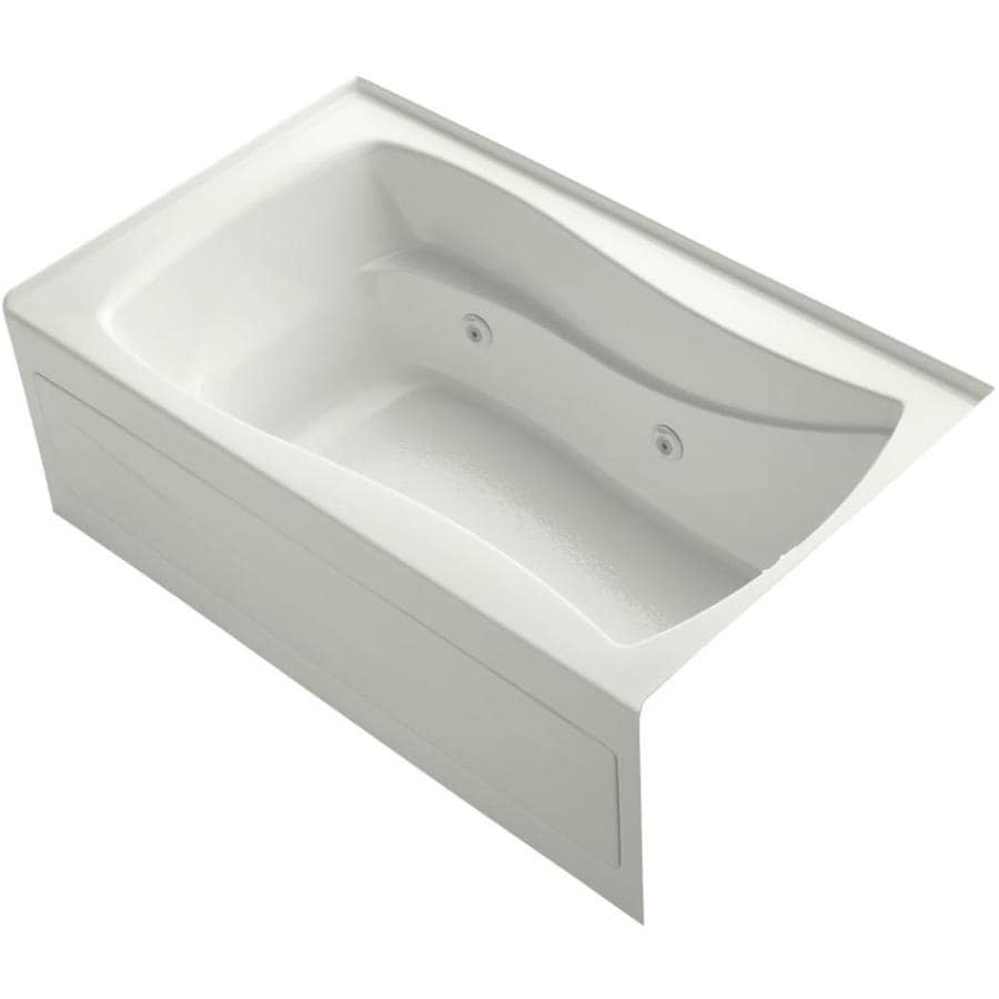 KOHLER Mariposa Dune Acrylic Hourglass In Rectangle Whirlpool Tub (Common: 36-in x 60-in; Actual: 20-in x 36-in x 60-in)