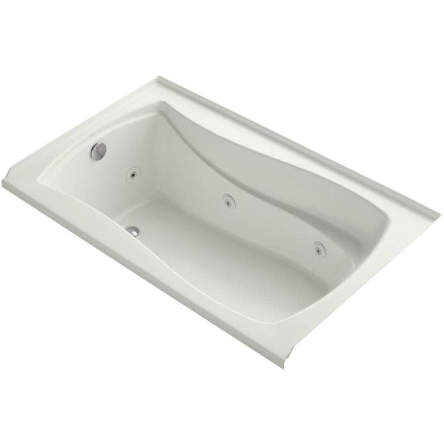 KOHLER Mariposa 60-in Dune Acrylic Alcove Whirlpool Tub with Reversible Drain