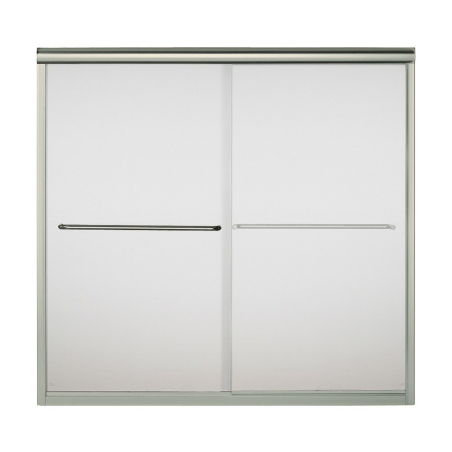 Sterling Finesse 59.625-in W x 58.0625-in H Brushed Nickel  Bathtub Door