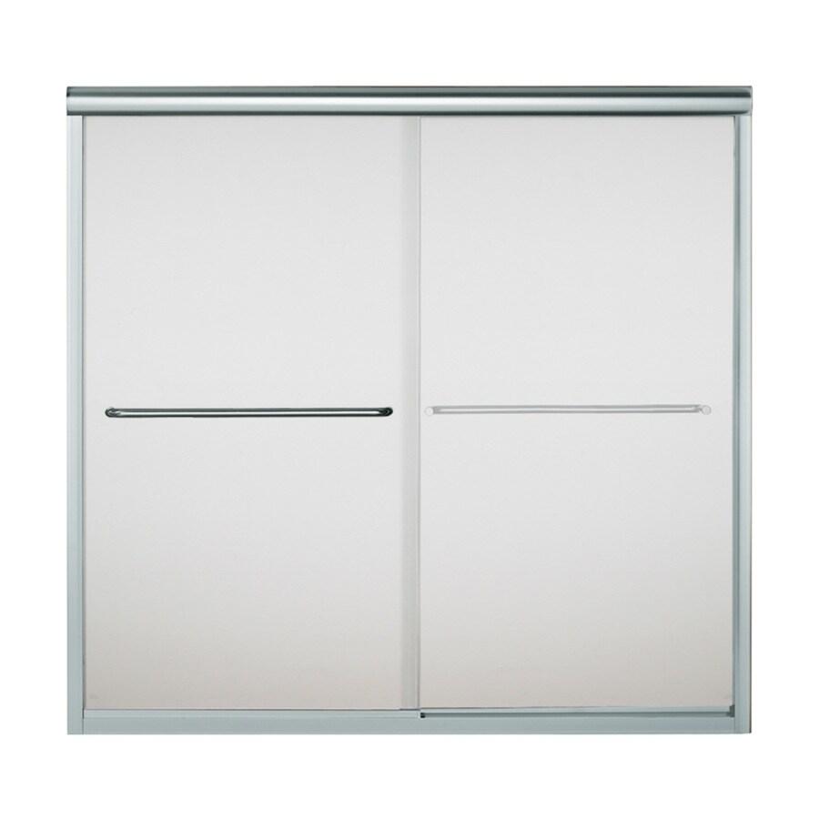 Sterling Finesse 59.625-in W x 58.0625-in H Silver  Bathtub Door