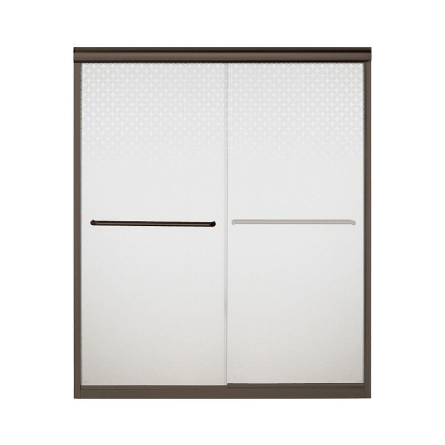 Sterling Finesse 54.625-in to 59.625-in Frameless Sliding Shower Door