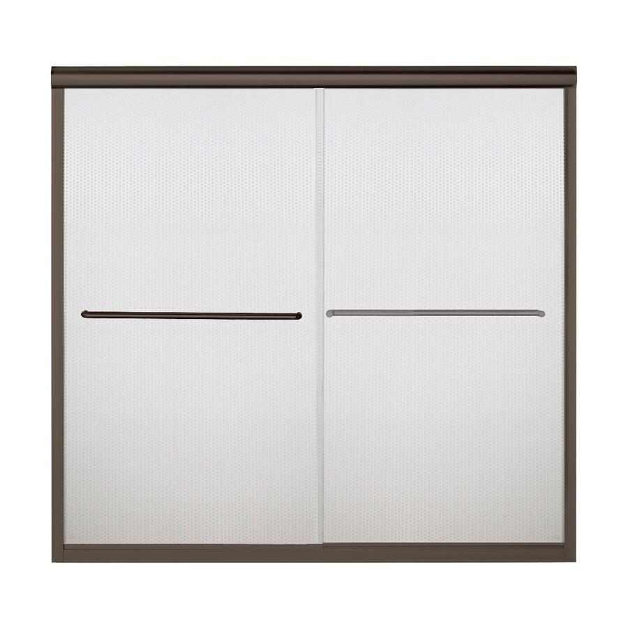 Sterling Finesse 59.625-in W x 58.0625-in H Deep Bronze  Bathtub Door