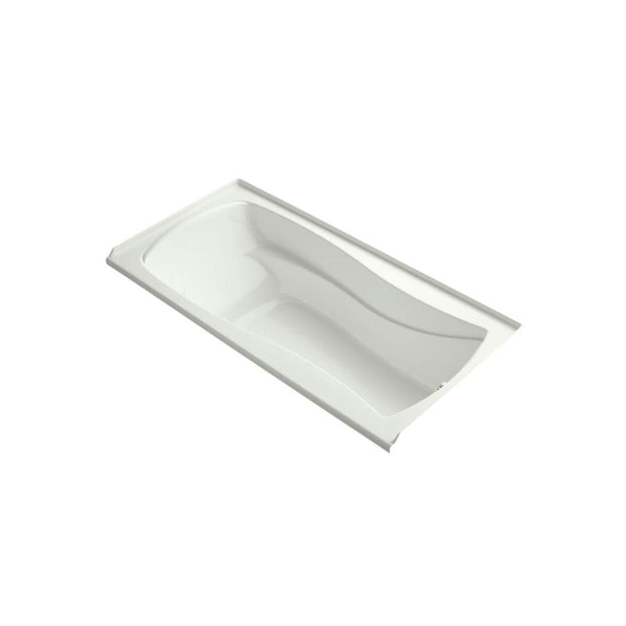 KOHLER Mariposa 72-in Dune Acrylic Alcove Air Bath with Right-Hand Drain