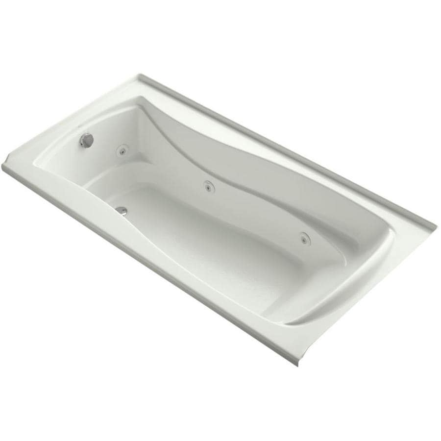 KOHLER Mariposa Dune Acrylic Hourglass In Rectangle Whirlpool Tub (Common: 36-in x 72-in; Actual: 20-in x 36-in x 72-in)