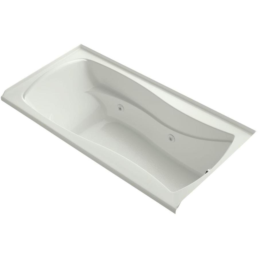 KOHLER Mariposa Dune Acrylic Hourglass In Rectangle Alcove Whirlpool Tub (Common: 36-in x 72-in; Actual: 20-in x 36-in x 72-in)