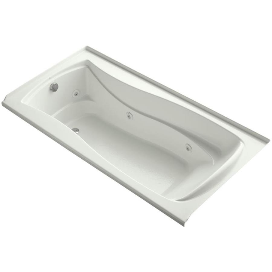 KOHLER Mariposa 72-in Dune Acrylic Alcove Whirlpool Tub with Reversible Drain