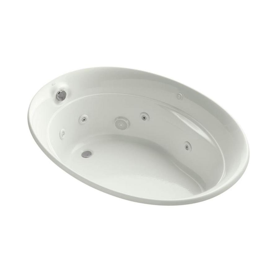 KOHLER Serif 60-in Dune Acrylic Drop-In Whirlpool Tub with Front Center Drain
