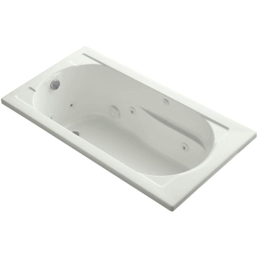 KOHLER Devonshire Dune Acrylic Rectangular Drop-in Whirlpool Tub (Common: 32-in x 60-in; Actual: 18.5-in x 32-in x 60-in)
