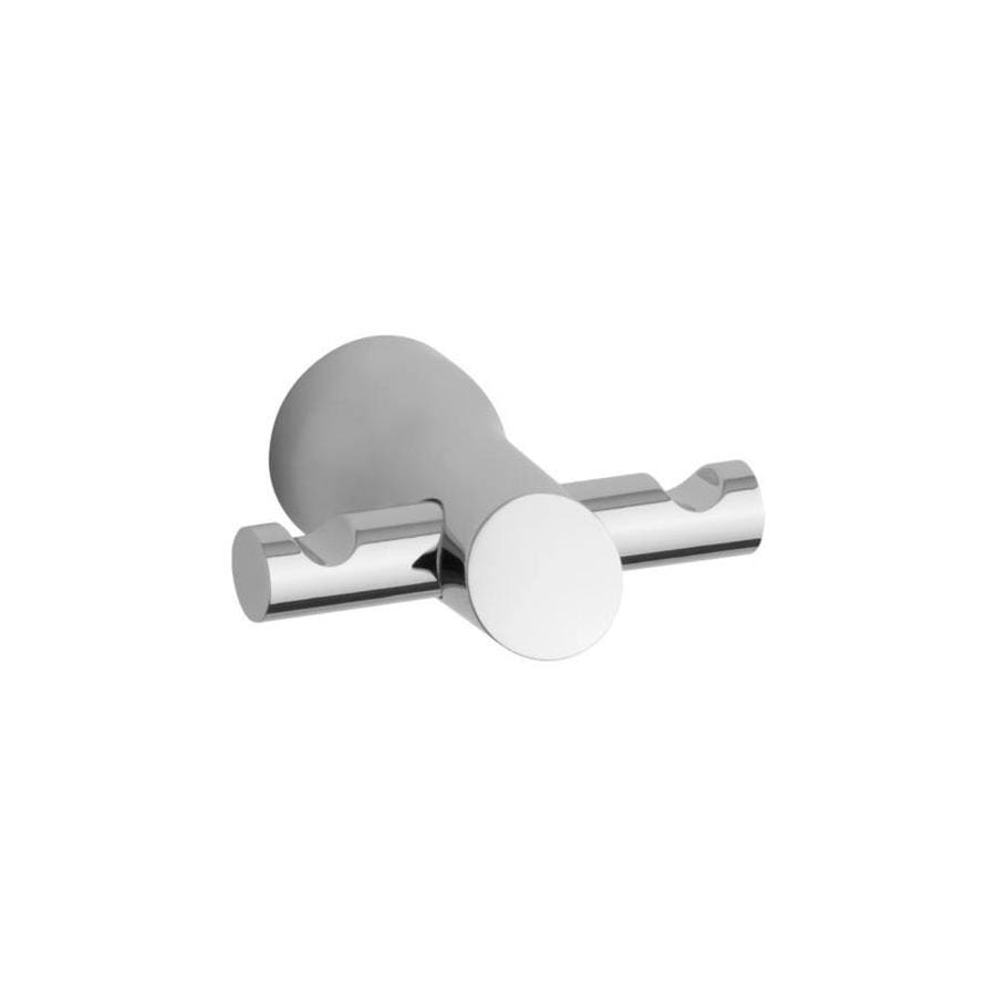 KOHLER Toobi 2-Hook Polished Chrome Robe Hook