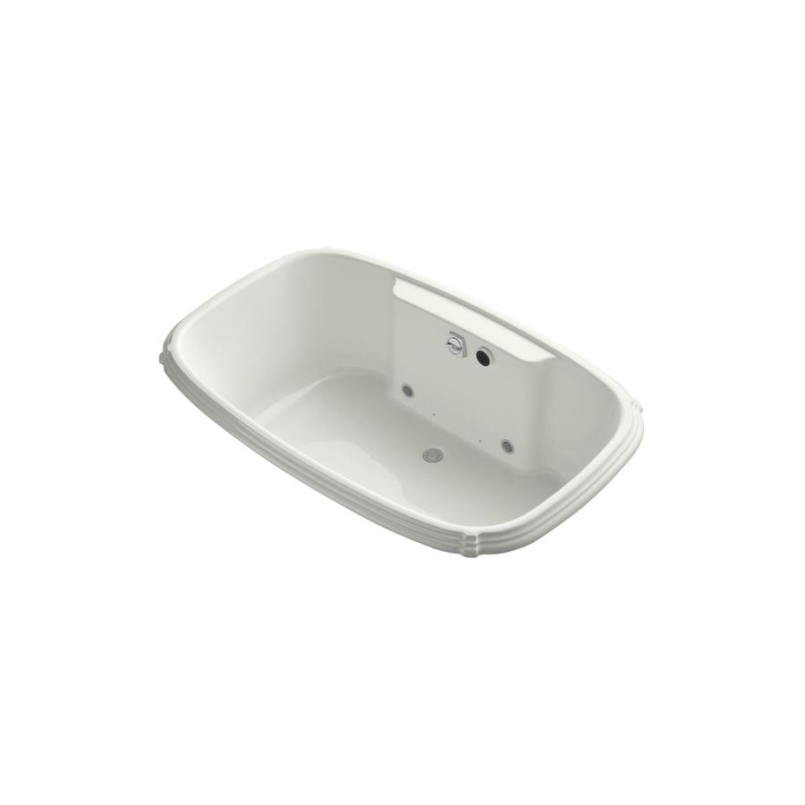 KOHLER Portrait 67-in Dune Acrylic Drop-In Air Bath with Front Center Drain