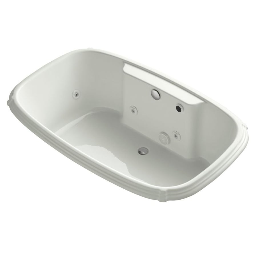KOHLER Portrait Dune Acrylic Oval Whirlpool Tub (Common: 42-in x 67-in; Actual: 22-in x 42-in x 67-in)