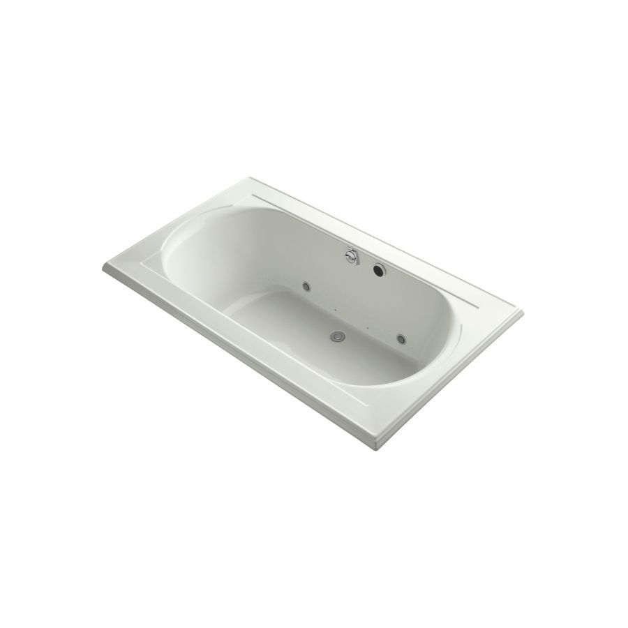 KOHLER Memoirs 72-in L x 42-in W x 22-in H White Acrylic Oval In Rectangle Drop-In Air Bath