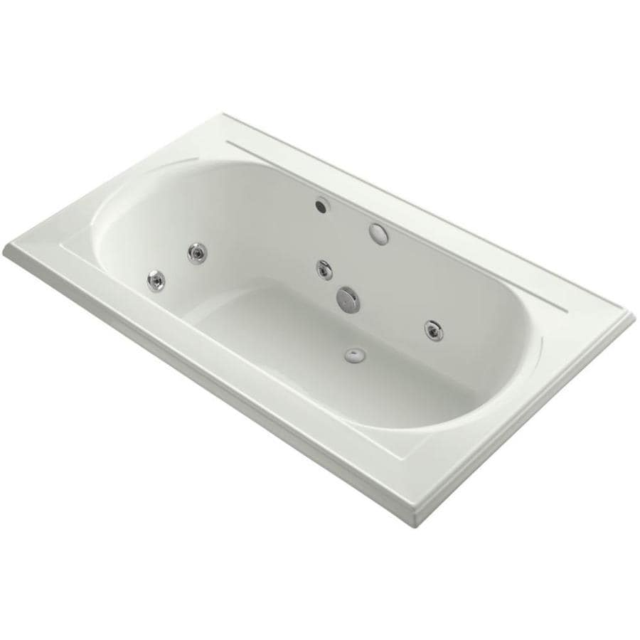 KOHLER Memoirs 72-in Dune Acrylic Drop-In Whirlpool Tub with Back Center Drain