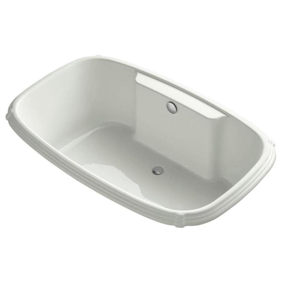 KOHLER Portrait 67-in Dune Acrylic Drop-In Bathtub with Center Drain