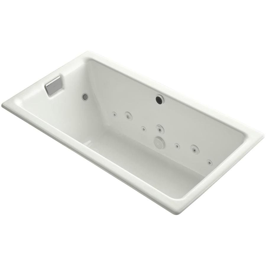 KOHLER Tea-For-Two Dune Cast Iron Rectangular Whirlpool Tub (Common: 36-in x 66-in; Actual: 24.0000-in x 36.0000-in x 66.0000-in)