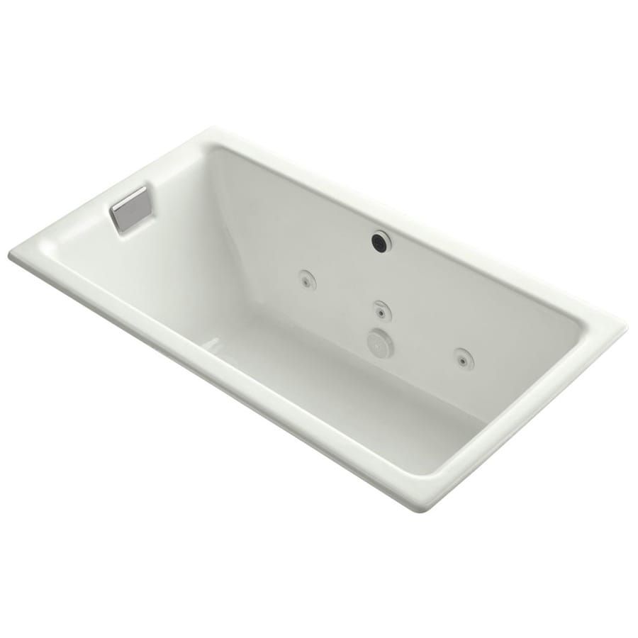 kohler tea for two dune cast iron rectangular drop in bathtub with
