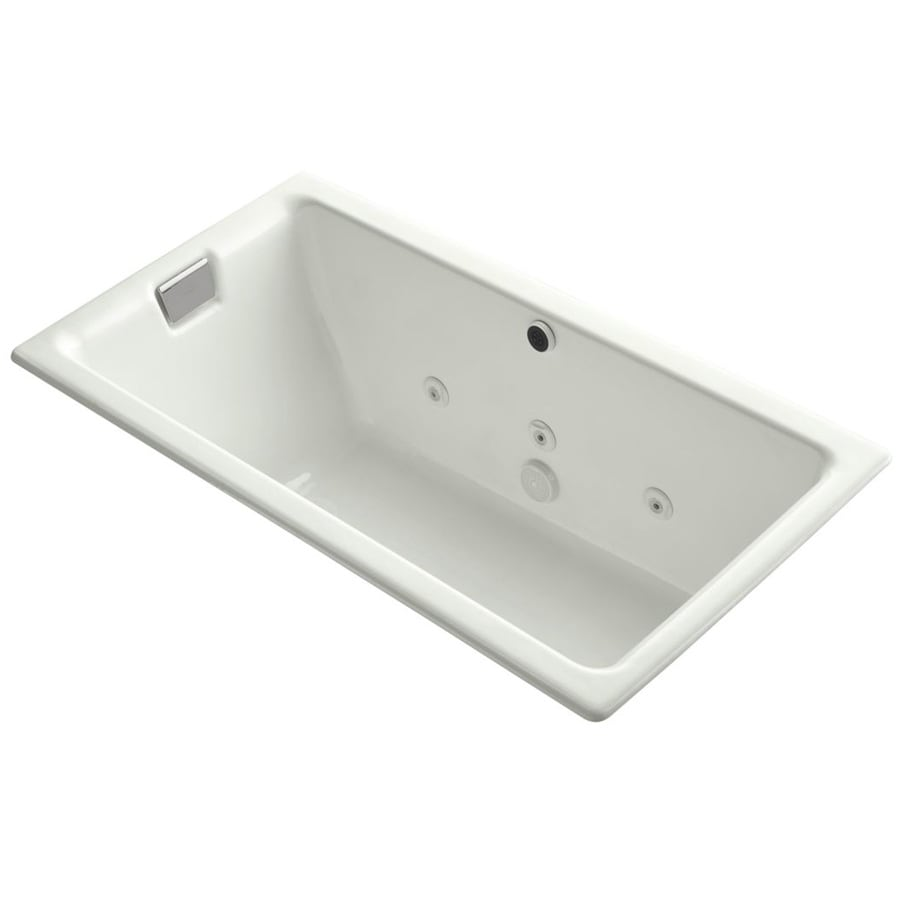 KOHLER Tea-For-Two Dune Cast Iron Rectangular Drop-in Bathtub with Reversible Drain (Common: 36-in x 66-in; Actual: 24-in x 36-in x 66-in)