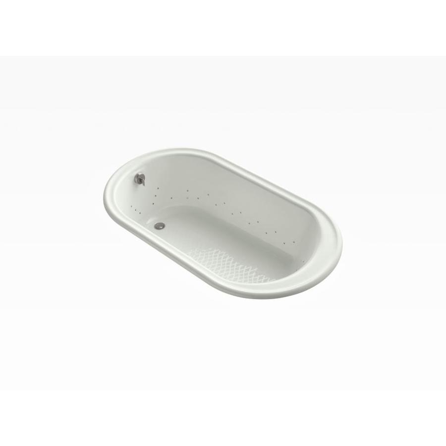 KOHLER Iron Works 66-in Sandbar Cast Iron Drop-In Air Bath with Reversible Drain