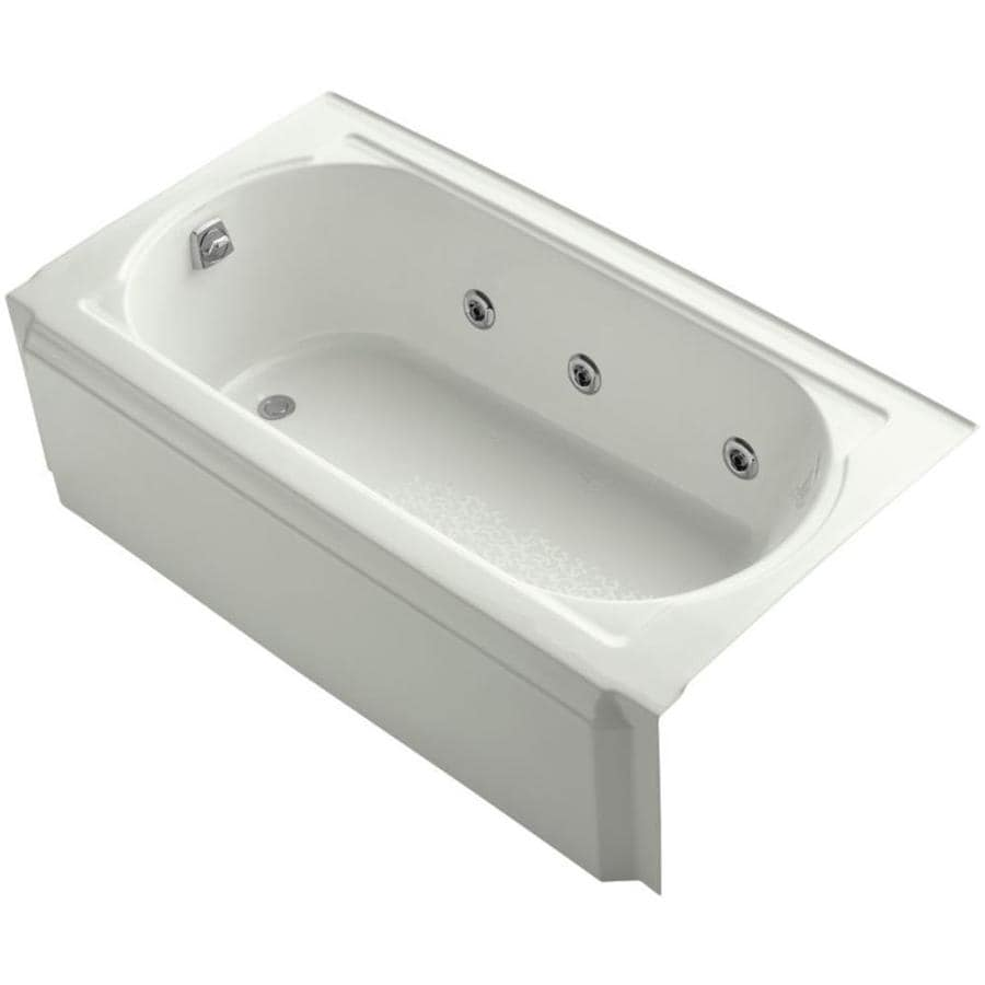 KOHLER Memoirs 60-in Dune Acrylic Alcove Whirlpool Tub with Left-Hand Drain