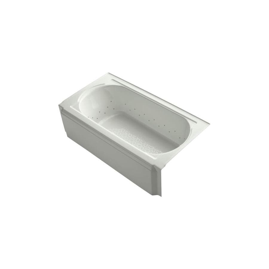 KOHLER Memoirs 60.0000-in L x 33.7500-in W x 17.4375-in H Dune Acrylic Oval In Rectangle Alcove Air Bath