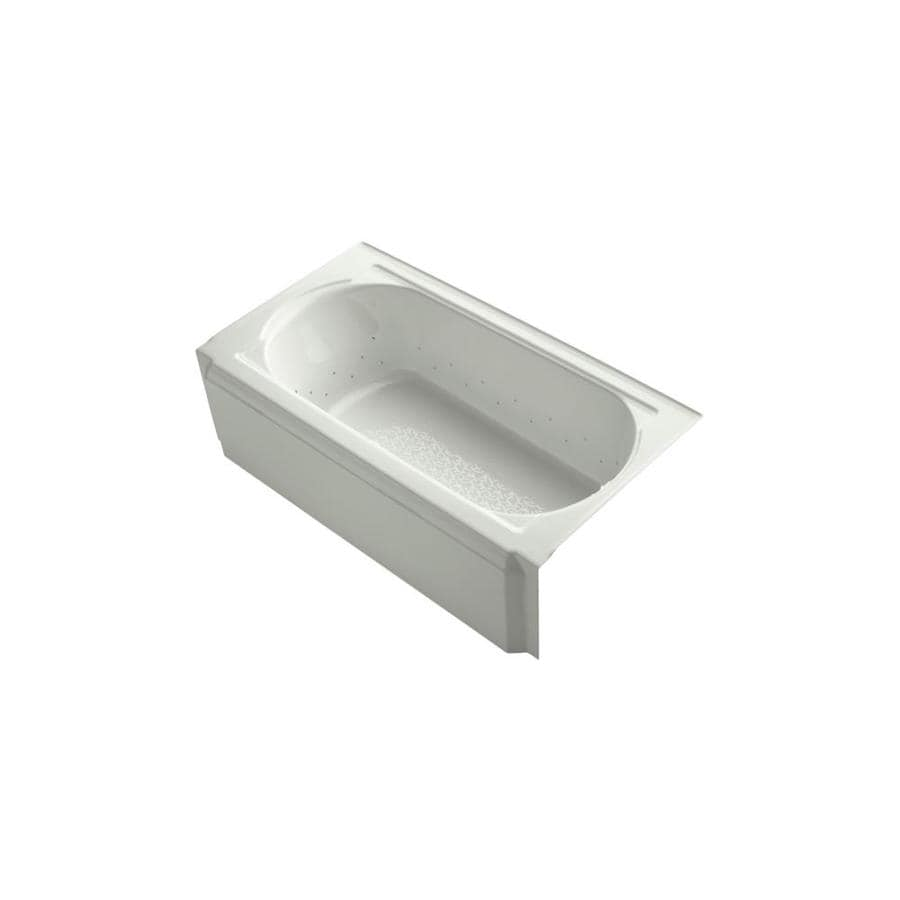 KOHLER Memoirs 60-in Dune Acrylic Alcove Air Bath with Right-Hand Drain