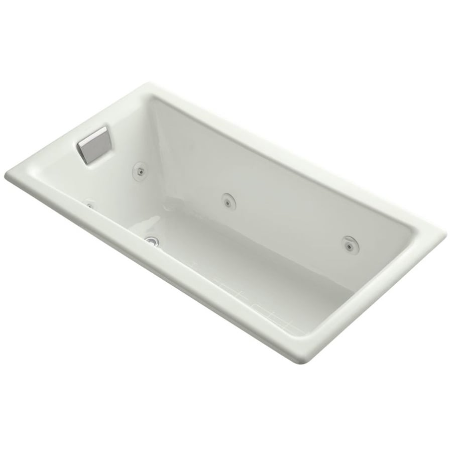 KOHLER Tea-For-Two Dune Cast Iron Rectangular Drop-in Bathtub with Reversible Drain (Common: 32-in x 60-in; Actual: 18.25-in x 32-in x 60-in)