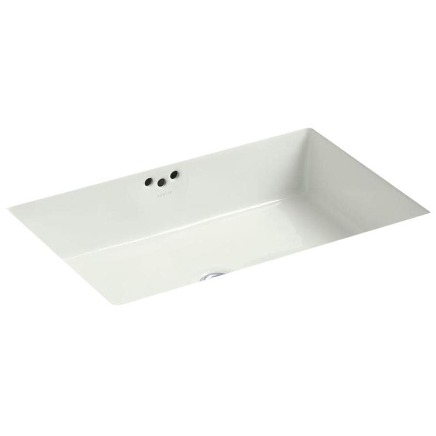 KOHLER Kathryn Dune Undermount Rectangular Bathroom Sink with Overflow