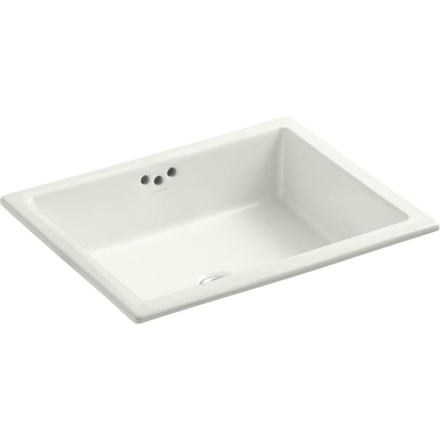 KOHLER Kathryn Dune Undermount Rectangular Bathroom Sink with Overflow