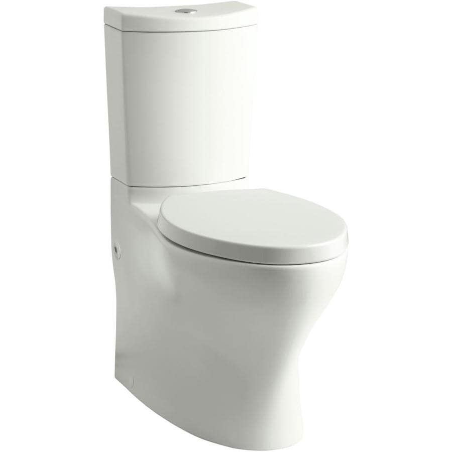 KOHLER Persuade Dune 1.6-GPF 12 Rough-In WaterSense Elongated Dual-Flush 2-Piece Chair Height Toilet