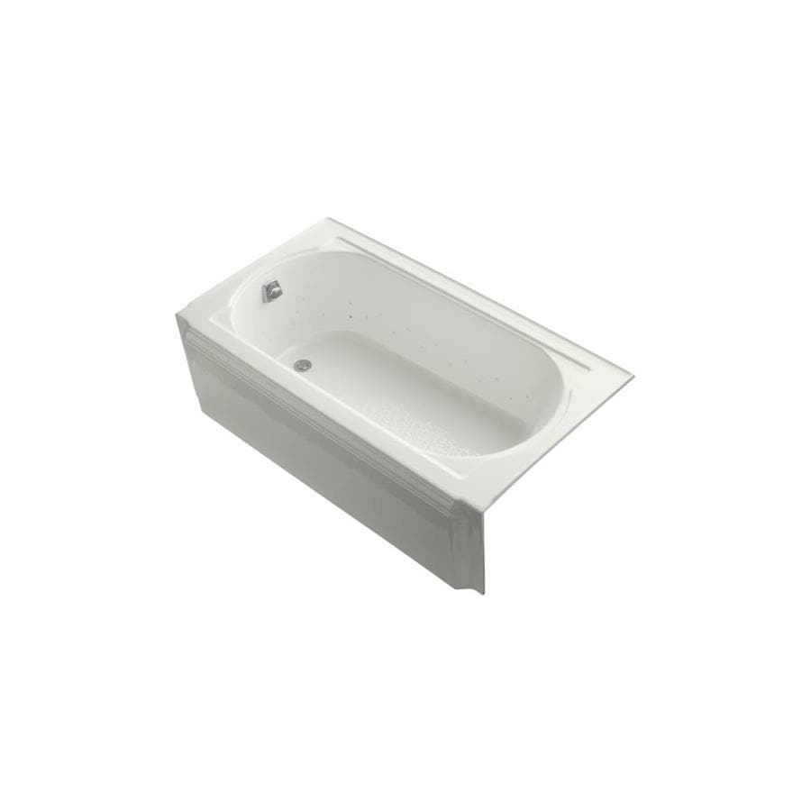 KOHLER Memoirs 60-in Dune Acrylic Alcove Air Bath with Left-Hand Drain