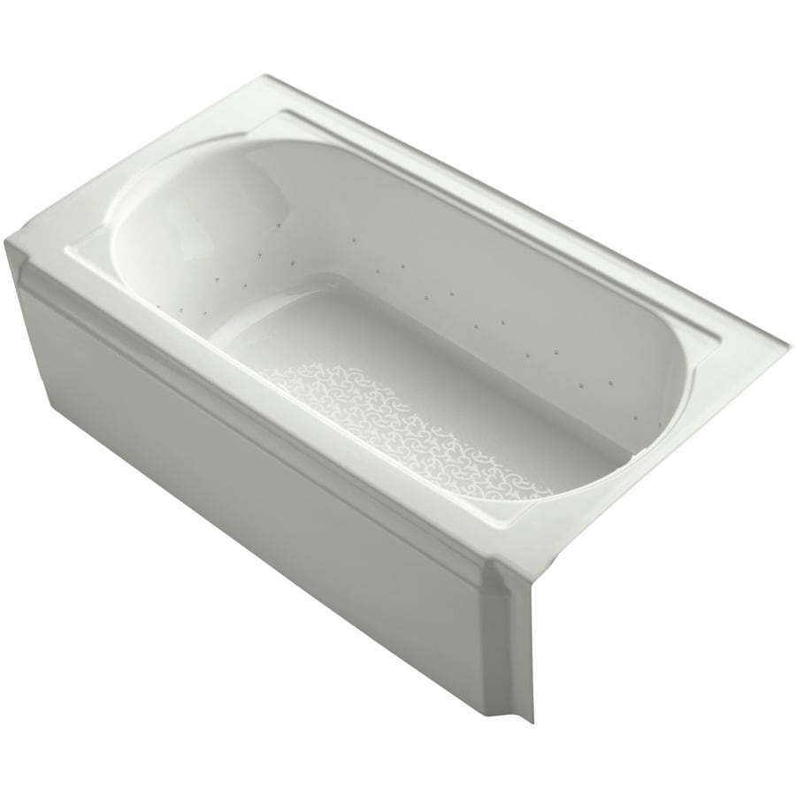 KOHLER Memoirs 60-in L x 32-in W x 17.4375-in H Dune Acrylic Oval In Rectangle Alcove Air Bath