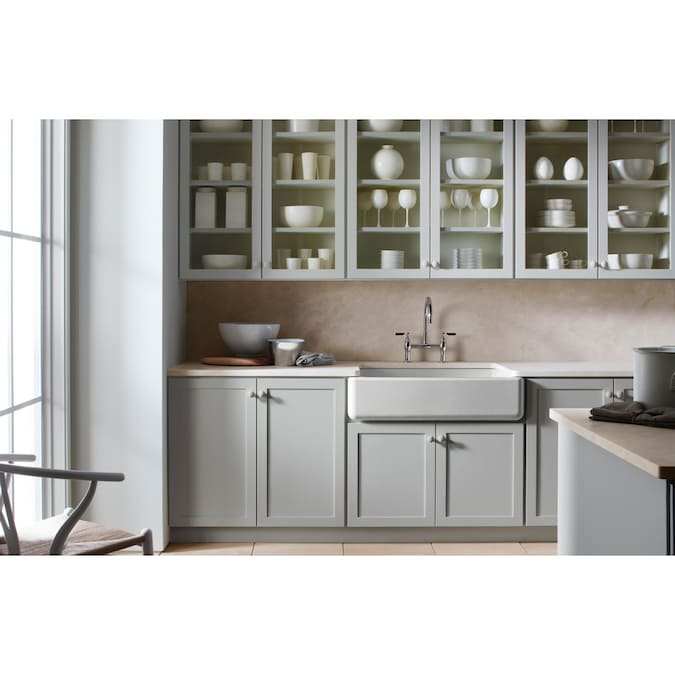 Kohler Whitehaven 35 68 In X 21 56 In White Single Bowl Tall 8 In Or Larger Undermount Apron Front Farmhouse Residential Kitchen Sink In The Kitchen Sinks Department At Lowes Com