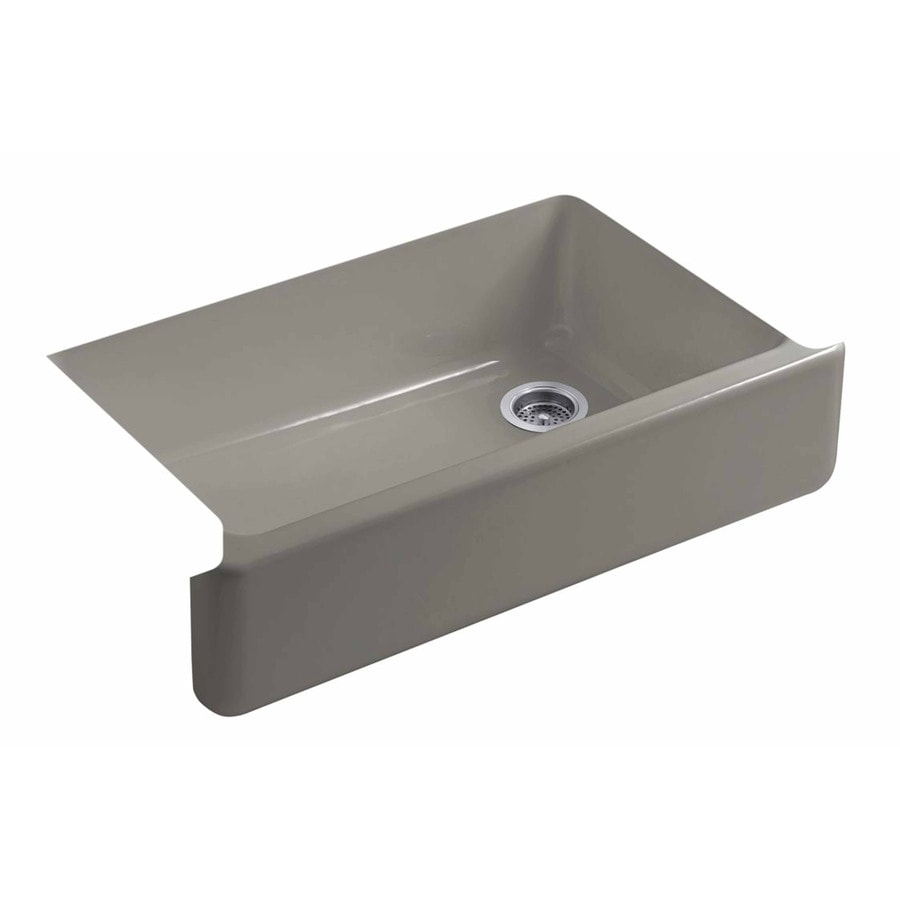 Shop KOHLER Whitehaven 35.68-in X 21.56-in Cashmere Single