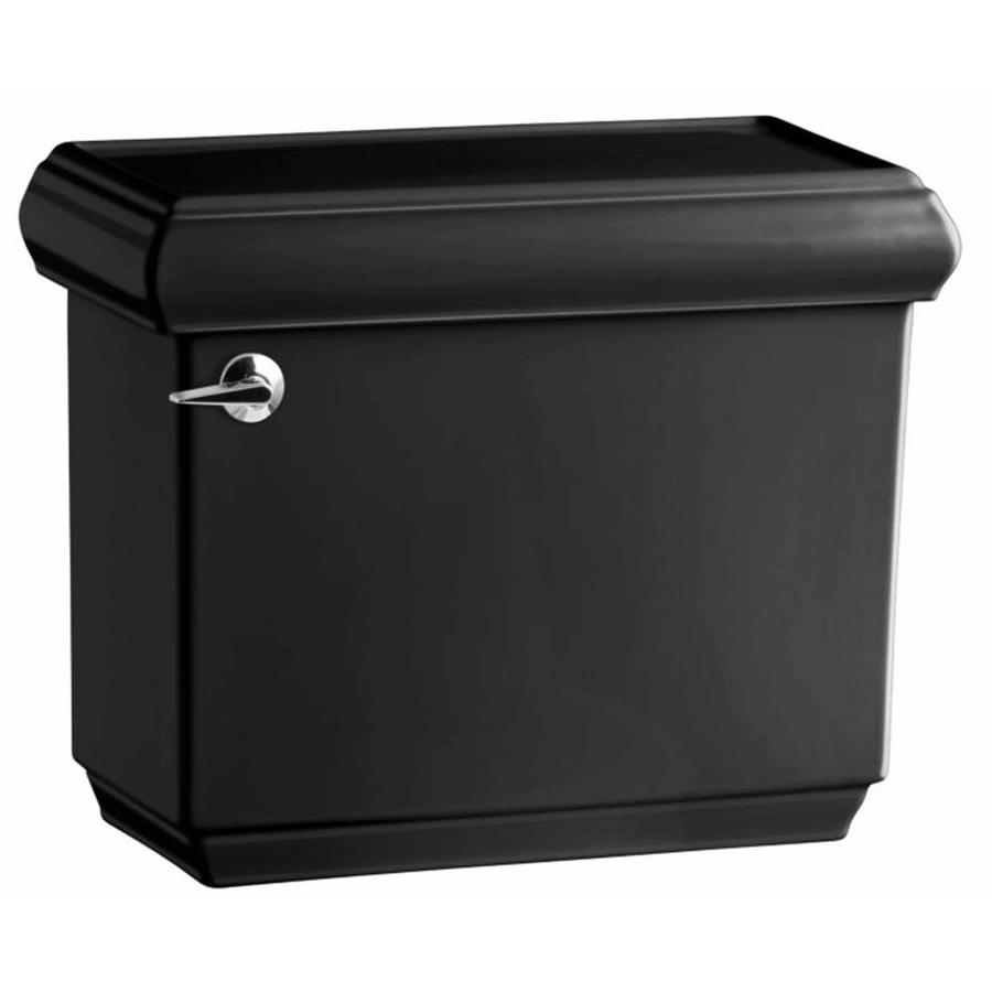 KOHLER Memoirs Black Black 1.6-GPF (6.06-LPF) 12 Rough-In Single-Flush High-Efficiency Toilet Tank