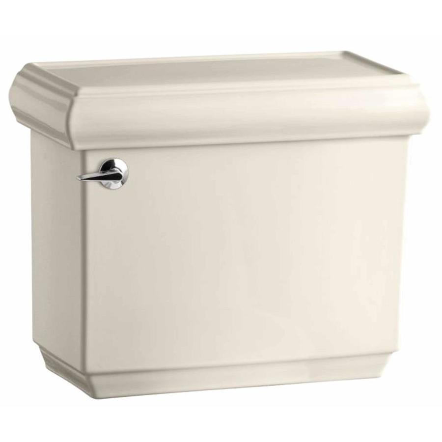 KOHLER Memoirs Almond 1.6-GPF Single-Flush High-Efficiency Toilet Tank