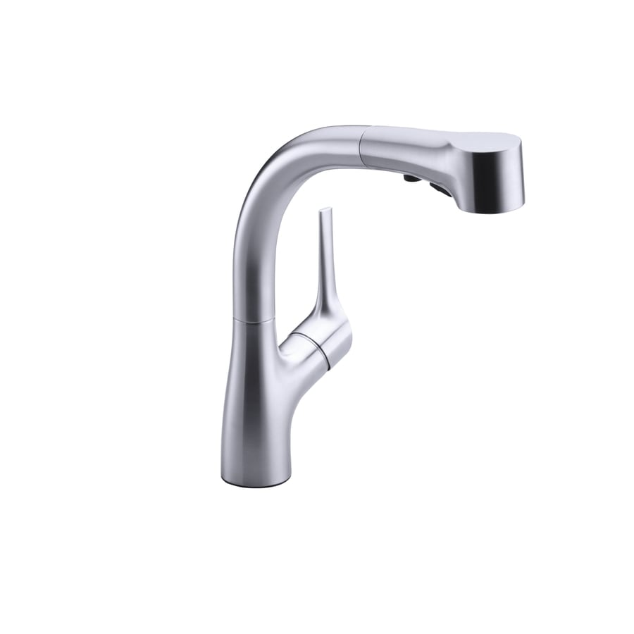 KOHLER Elate Stainless Steel 1-Handle Pull-Out Kitchen Faucet
