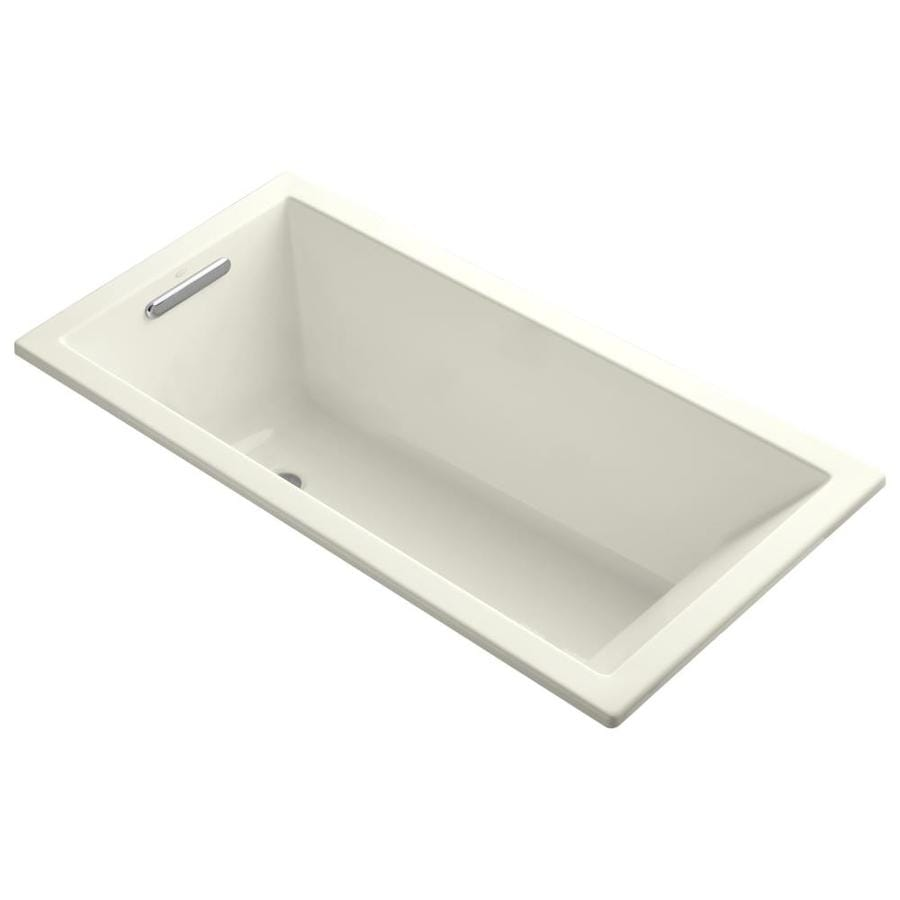 KOHLER Underscore Biscuit Acrylic Rectangular Drop-in Bathtub with Reversible Drain (Common: 30-in x 60-in; Actual: 19-in x 30-in x 60-in)