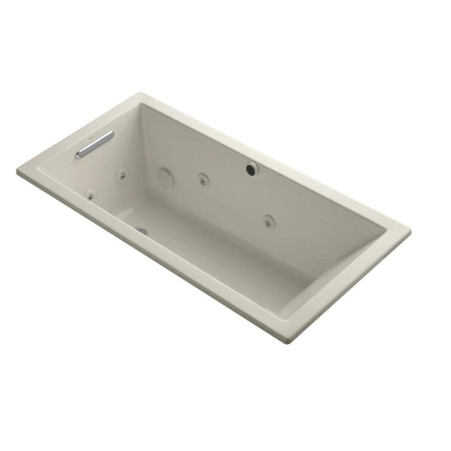 KOHLER Underscore Sandbar Acrylic Rectangular Whirlpool Tub (Common: 30-in x 60-in; Actual: 19-in x 30-in x 60-in)