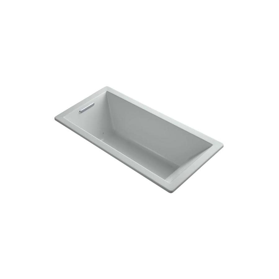 KOHLER Underscore 66-in Sandbar Acrylic Drop-In Air Bath with Reversible Drain