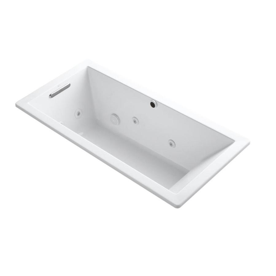 KOHLER Underscore White Acrylic Rectangular Whirlpool Tub (Common: 32-in x 66-in; Actual: 22-in x 32-in x 66-in)