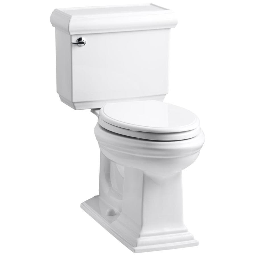 KOHLER Memoirs White  Elongated Chair Height 2-piece Toilet 12-in Rough-In Size