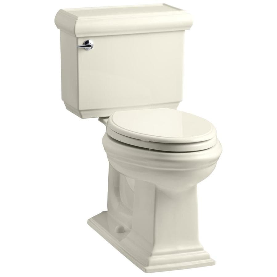 Kohler Colored Toilets : Shop KOHLER Memoirs 1.6-GPF (6.06-LPF) Almond Elongated Chair Height 2 ...