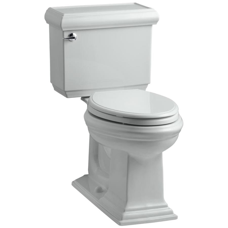 KOHLER Memoirs 1.6-GPF (6.06-LPF) Ice Grey Elongated Chair Height 2-piece Toilet