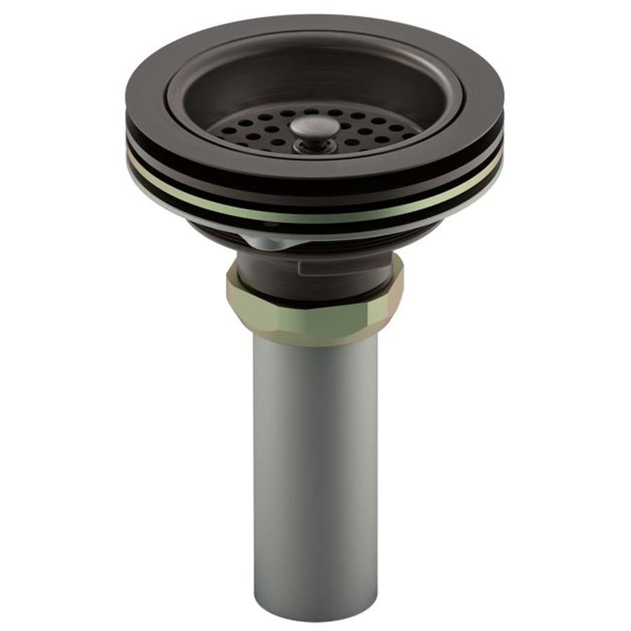 KOHLER 4.5-in Oil-Rubbed Bronze Brass Fixed Post Kitchen Sink Strainer